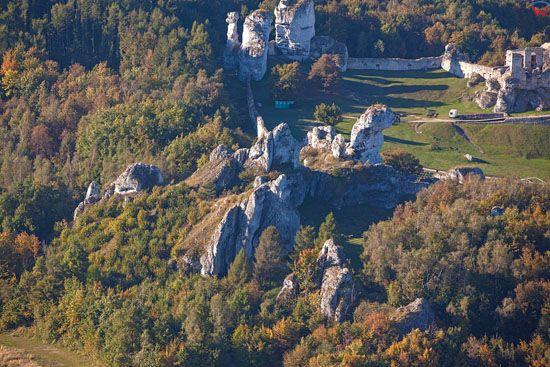 Zamek Ogrodzieniec w Podzamczu, EU, Pl, Slask, LOTNICZE.