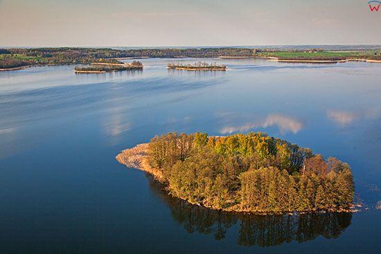 Rezerwat Polwysep i Wyspy na jeziorze Rydzowka. EU, Pl, Warm-Maz. Lotnicze.