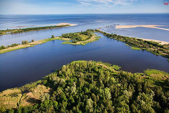 Mikoszewo, Rezerwat Przyrody Mewia Lacha. EU, PL, Pomorskie. Lotnicze.