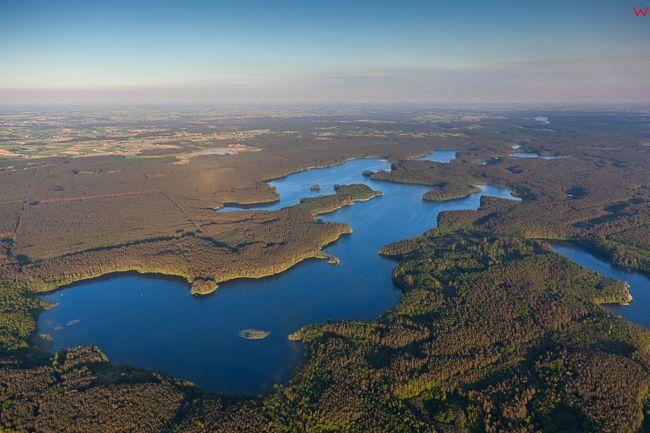 Brodnicki Park Krajobrazowy, 26.05.2016 n/z jezioro Wlk. Parteczyny. EU, PL, Kuj-Pom. Lotnicze.