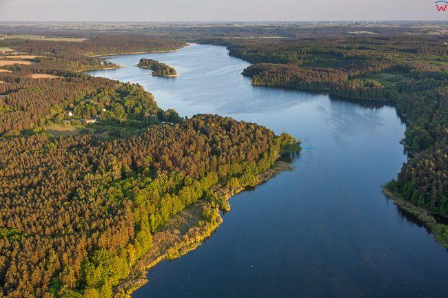 Brodnicki Park Krajobrazowy, 26.05.2016 n/z jezioro Bachotek. EU, PL, Kuj-Pom. Lotnicze.