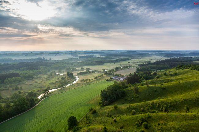 Brodnicki Park Krajobrazowy, 26.05.2016 n/z rzeka Drweca. EU, PL, Kuj-Pom. Lotnicze.