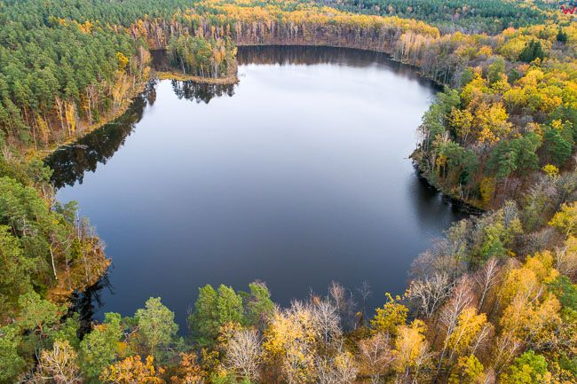Mazurski Park Krajobrazowy, jezioro Klimunt. EU, pl, warm-maz. Lotnicze
