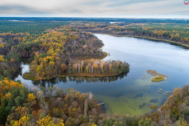 Mazurski Park Krajobrazowy, jezioro Krutynskie. EU, pl, warm-maz. Lotnicze