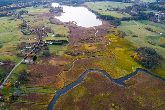 Mazurski Park Krajobrazowy, rzeka Krutyn. EU, pl, warm-maz. Lotnicze