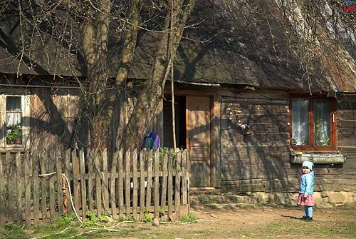 _W060293 Suwalski Park Krajobrazowy. Drewniana zabudowa we wsi Ługiele