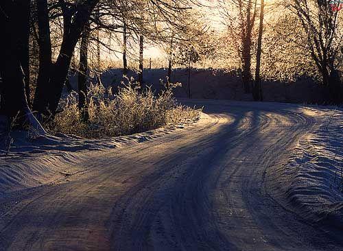 Zima okolica Kłębowa gm. Lidzbark Warmiński