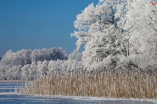 Zima, jezioro Juno, warm-maz