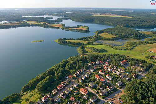 LOTNICZE. Polska, warm-maz. Jezioro Ukiel (Krzywe).