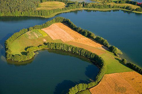 LOTNICZE. Polska, warm-maz. Jezioro Ukiel (Krzywe)