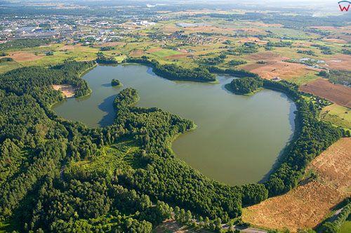 LOTNICZE. Polska, warm-maz. Jezioro Skanda. Olsztyn.