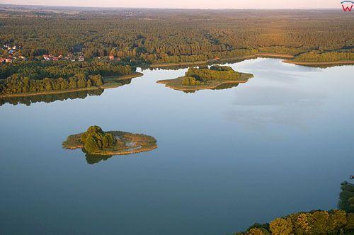 LOTNICZE. Polska, warm-maz. Jezioro Isag.