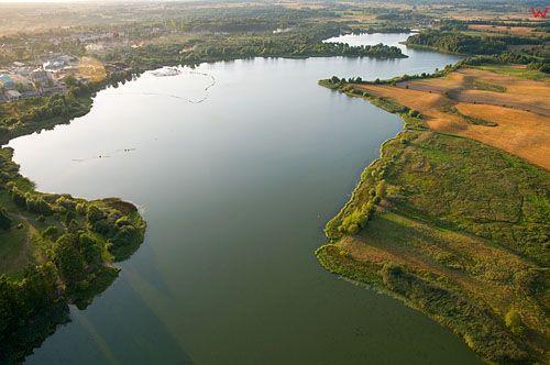LOTNICZE. Polska, warm-maz. Morag, jezioro Skiertag.