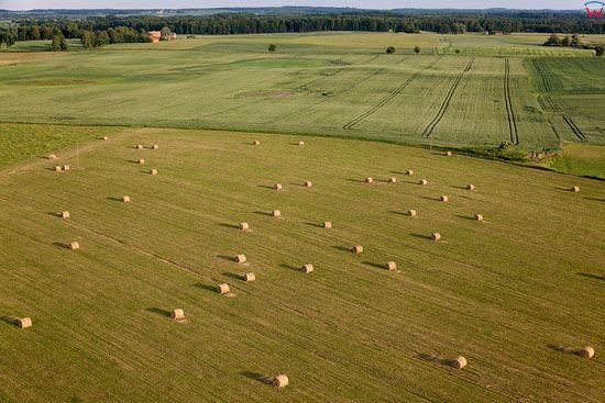Lotnicze. PL, warm -maz. Panorama w okolicy Srokowa i Kosakowa.