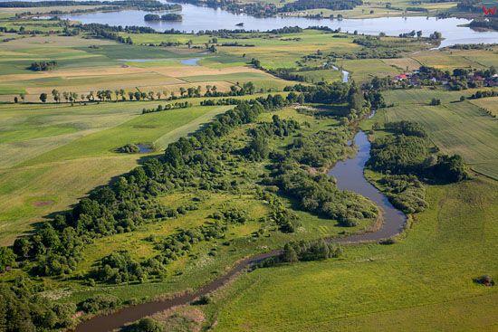Lotnicze, EU, PL, warm-maz. Jezioro Ewingi i panorama na jezioro Jeziorak.