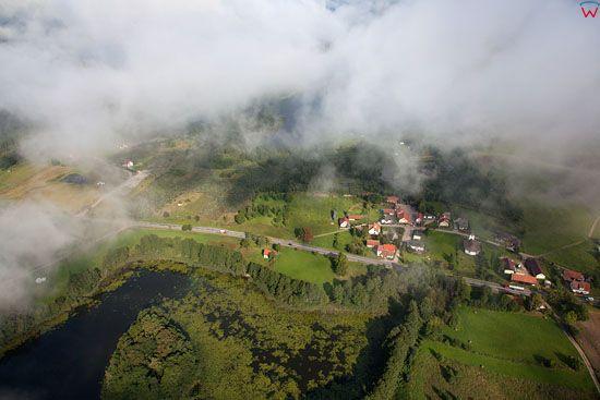 Lotnicze, EU, PL warm-maz. Jezioro Janowskie, okolica wsi Nowe Bagienice.