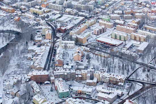 Lotnicze, EU, Pl, warm-maz. Panorama na Lidzbark Warminski.