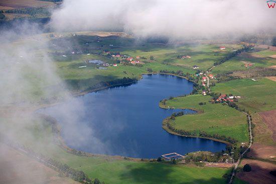 Jezioro Wielochowskie. EU, PL, Warm-Maz. Lotnicze.