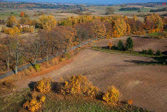 Jesien na Warmii, okolica Lutr, EU, Pl, Warm-Maz. LOTNICZE.