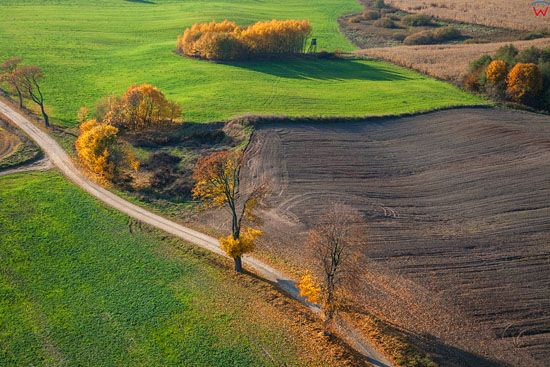 Jesien na Warmii, okolica Tlokowa, EU, Pl, Warm-Maz. LOTNICZE.