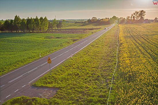 Olsztynek, droga nr 58. EU, PL, Warm-Maz. Lotnicze.