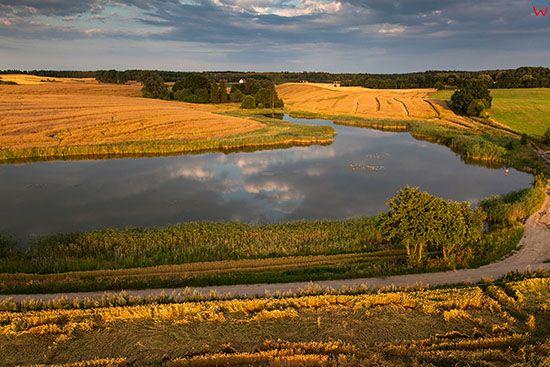 Jezioro Salet, okolica wsi Popowo. EU, PL, Warm-Maz. Lotnicze.