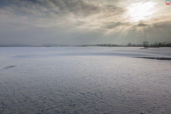 Warmia, zima w okolicy Lidzbarka Warminskiego. EU, PL, Warm-Maz. Lotnicze.