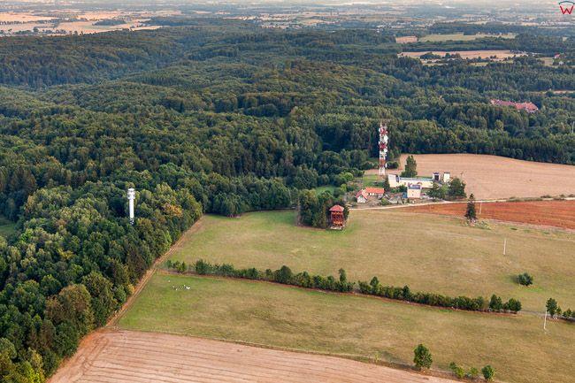 Park Krajobrazowy Wzgorz Dylewskich - Dylewska Gora 312 m npm. EU, Pl, Warm-Maz. Lotnicze.