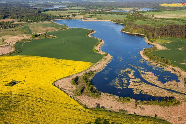 Jezioro Kiermas k. Barczewa. EU, Pl, Warm-Maz. Lotnicze.