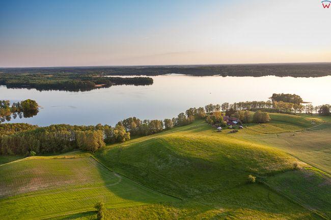 Jezioro Dadaj. EU, Pl, Warm-Maz. Lotnicze.