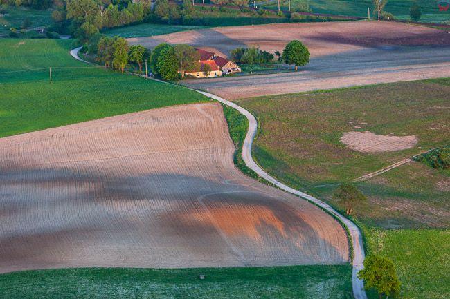 Warmia, okolica Biesowa. EU, Pl, Warm-Maz. Lotnicze.