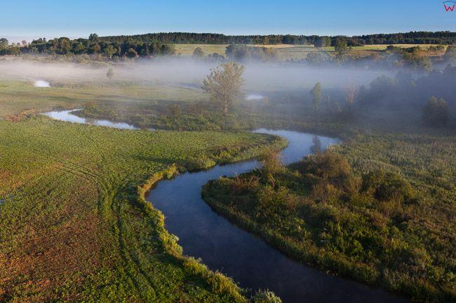 Rzeka Lyna w okolicy Lidzbarka Warminskiego, EU, PL, Warm-Maz. Lotnicze.