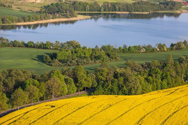 Panorama na jezioro Mildzkie, EU, PL, Warm-Maz. Lotnicze