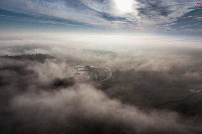 Lidzbark Warminski. 14.10.2016 r. Termy Warminskie o wschodzie slonca. EU, PL, Warm-Maz.. Lotnicze