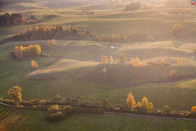 Jesien na Warmii 16.10.2017 r, okolica Lidzbarka. EU, Pl, warm-maz. Lotnicze.
