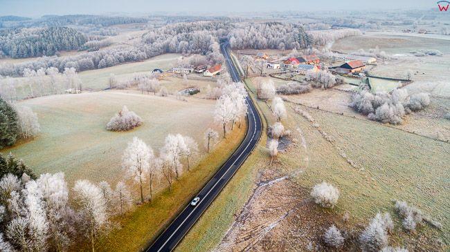 Lidzbark Warminski, 19.12.2017 r. pejzaz warminski w okolicy Lidzbarka. EU, PL, warm-maz. Lotnicze