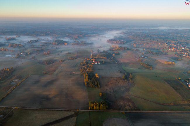 Warmia, okolica wsi Runowo. EU, PL, warm-maz. Lotnicze