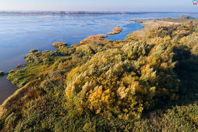Zulawy, jezioro Druzno. EU, PL, warm-maz. Lotnicze