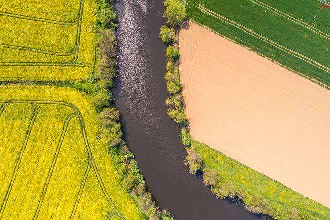 Jazowa, pejzaz Zulaw, kanal Izbowa Lacha. EU. PL,. EU, Pl, warm-maz. Lotnicze