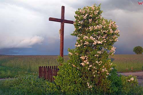 przydrożny krzyż w okolicy Lidzbarka Warmińskiego