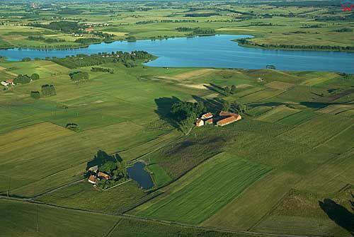 Lotnicze. Jezioro Blanki widoczne od strony zachodniej.