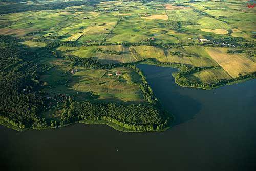 Lotnicze. Jezioro Symsar widoczne od strony poludniowo-zachodniej.