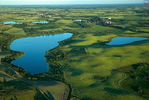 Lotnicze. Jezioro Kokowo, w tle Jeziorany.
