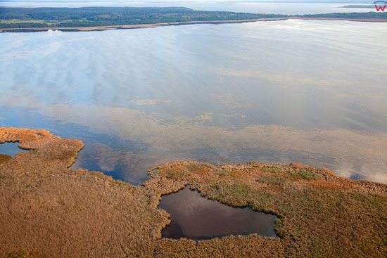 Lotnicze, Pl, warm - maz. Rezerwat przyrody jezioro Luknajno. Mazurski Park Krajobrazowy.