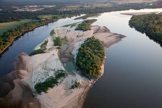 Lotnicze, EU, PL, mazowieckie. Rzeka wisla - Rezerwat Zakole Zakroczymskie.