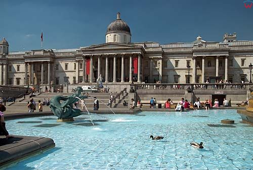 Londyn, St. James plac Trafalgar Square