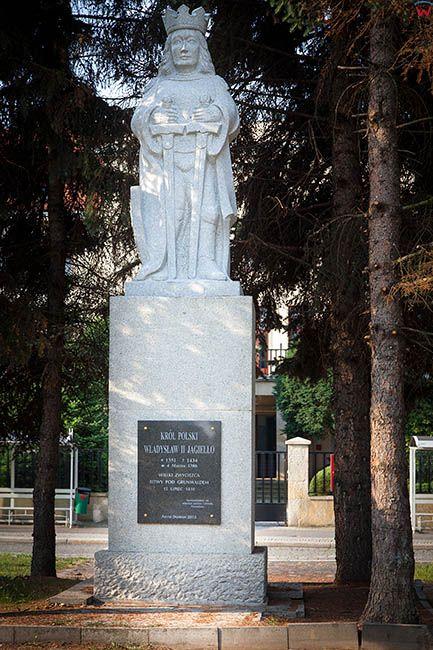 Legnica, Pomnik Wladyslawa Jagielly przy ulicy Grabskiego. EU, Pl, Dolnoslaskie.