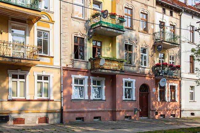 Legnica, Legnicki Kwadrat ulica Maksymiliana Kolbe. EU, Pl, Dolnoslaskie.