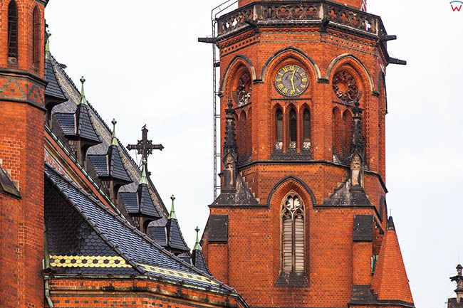 Legnica, detale architektoniczne Katedry. EU, Pl, Dolnoslaskie.