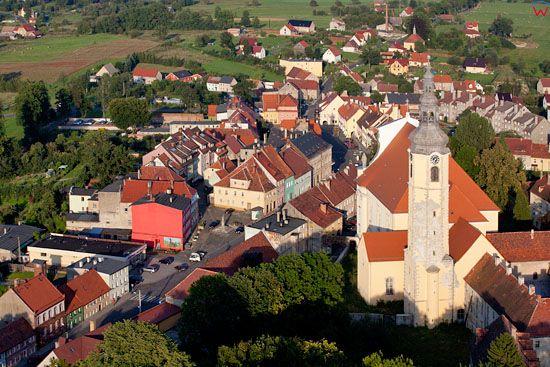 Panorama na Lubomierz. EU, Pl, Dolnoslaskie. Lotnicze.
